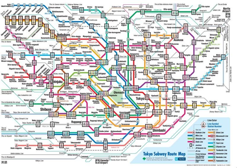 tokyo subway map (metro)